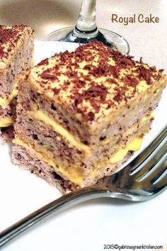 Royal Cake- Nothing fancy about this cake except that the taste is indeed royal. Delicious and super easy to make- inspired from the Romanian cuisine