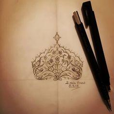 Desen Tasarım🤩Tezhip❤️hobi😊 (@sunrabiasun) • Instagram fotoğrafları ve videoları Islamic Art Pattern, Pattern Art, Islamic Art Calligraphy, Manish, Mandala, Sketches, Embroidery, Patterns, Tattoos