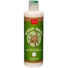 Cloud Star Buddy Wash Dog Shampoo and Conditioner, 16oz, Green Tea & Bergamot >>> Want additional info? Click on the image.
