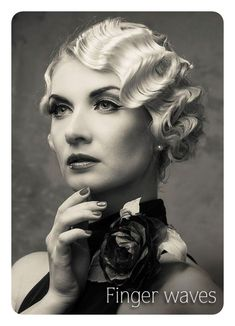 Up hairstyles, wedding hairstyles, vintage hairstyles, pretty hairstyles, finger waves short hair Finger Waves Short Hair, Finger Curls, Finger Wave Hairstyle, Finger Waves Wedding, Pelo Vintage, Vintage Curls, Waves Curls, Pin Curls, Vintage Hairstyles