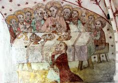 Last supper in Kalanti Church