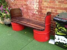 DIY Recycled Metal Drums Furniture
