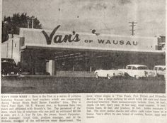 Sept. 8, 1960 - Van's of Wausau grocery store.