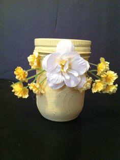 Yellow mason jar