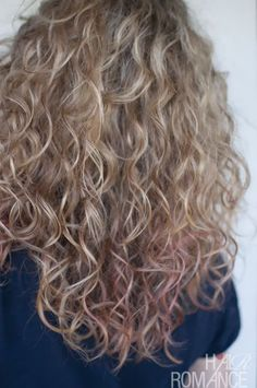 Back view of curly hair