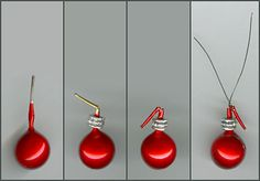 Tutorial for 1:6 Christmas tree ornaments