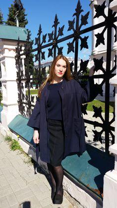RUSSIAN - YAROSLAVL Tatiana in front of the Yaroslavl's church