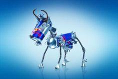 Figuras hechas con latas
