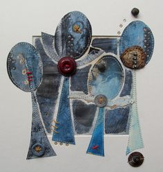 'If one blue thistle' by Louise O'Hara of DrawntoStitch www.drawntostitch.com