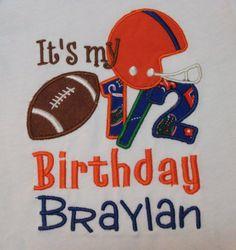 My 1/2 Birthday Football shirt for boys by Birthdayshirtsanmore