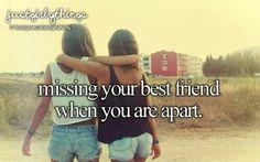 My best friend moved away abot 2 months ago i miss hef so much. I luv u