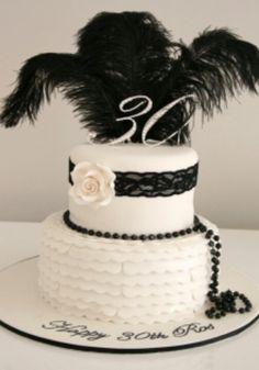Perfect 1920's 30th birthday cake