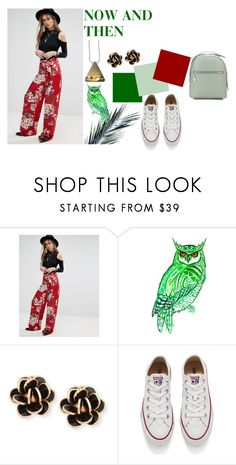 """""""JEM X NOW AND THEN"""" by chapterthree ❤ liked on Polyvore featuring Missguided, Chantecler, Converse, Fiorelli, StreetStyle, chic, retro, aesthetic and chiclookcloset"""