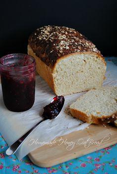 Homemade honey oat bread|www.you-made-that.com
