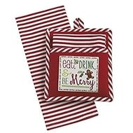 Eat Drink Be Merry Potholder Dish Towel Gift Set With Images