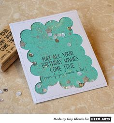 Create a fun, bubble edged shaker card with the negative portion of the Star Background Fancy Die