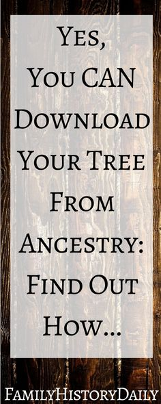 Genealogy Research Help: These tips will help you download your family tree from Ancestry quickly so you can get back to researching your family history! #familytree #ancestry