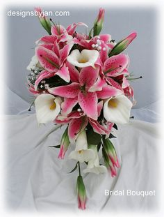 Stargazer lilies bouquet, add lily of the valley