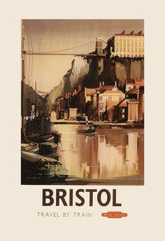 BRITISH RAILWAYS TRAVEL Poster England by EncorePrintSociety