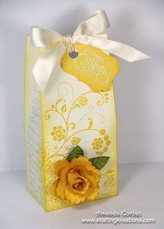 Krafting Kreations: Spring Rose Gift Box. Tutorial for making the rose http://www.kraftingkreations.com/2013/04/blossom-punch-rose-tutorial.html