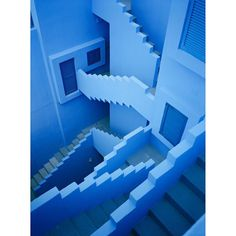 Blue stairs - la muralla roja  #fredguillaud #analog #fuji645zi #calpe #lamurallaroja by fredguillaud