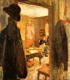 The Open Door Edouard Vuillard - circa Edouard Vuillard, Beaux Arts Paris, Post Impressionism, National Gallery Of Art, Paul Gauguin, Oil Painting Reproductions, French Artists, Oeuvre D'art, Painting Inspiration