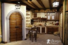 built in kitchen antique style