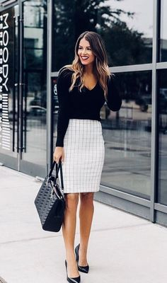 38 Pretty Business Casual Outfits to Your Style Inspiration Business fashion for ladies Casual Work Outfits, Mode Outfits, Work Casual, Fashion Outfits, Casual Blazer, Casual Office, Outfit Work, Casual Pencil Skirt Outfits, Work Outfits For Women