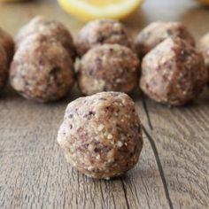 Lemon and Cherry Protein Balls. Healthy. Packed with protein. Guilt free!