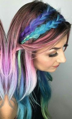 Pretty pink purple dyed hair color inspiration @hairbykristinamarie #pretty