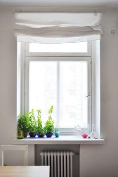 Tiny herb garden. Pupulandia | Trendi Herb Garden, Herbs, Windows, Interior, Green, Spaces, Inspiration, Bathroom, Home