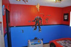 Charming Transformers Bedroom Colors Optimus Prime Vinyl Decals. Flat Black Border U0026  Baseboards.
