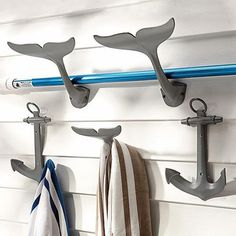 Guest Picks: 20 Delightfully Inventive Wall Hooks and Coatracks (2 / 20) These rust-resistant hooks can be used outside on a shed or by a pool. Their nautical theme makes them great for a cottage. $34.50