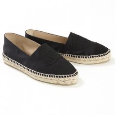 Black Ballet flats CHANEL (12.854.205 IDR) ❤ liked on Polyvore featuring shoes, flats, black skimmer, ballet flats, black shoes, kohl shoes and ballerina shoes