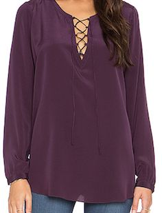 Purple loose blouse