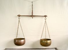 Antique Copper & Brass Balance Scales by CollectorsCoffer on Etsy, $75.00