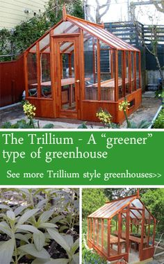 "The Trillium - a ""greener"" type of greenhouse"