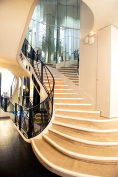 Staircase at Coco Chanel's home at 31, Rue Cambon, Paris, France
