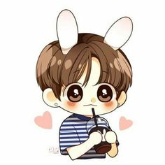 puppy care tips Walks Jungkook Fanart, Jungkook Cute, Kpop Fanart, Bts Chibi, Anime Chibi, Bts Drawings, Kawaii Drawings, Cute Couple Art, Anime Version