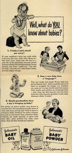 old baby ad