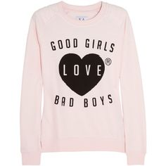 Zoe Karssen Good Girls Love Bad Boys cotton-blend sweatshirt