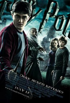 "11x17 Inch Harry Potter and the Half-Blood Prince poster features Harry Potter, Professor Albus Dumbledore, Hermione Granger, and Ron Weasley with the caption ""DARK SECRETS REVEALED"". Get it now at http://harrypottermovieposters.com/product/harry-potter-and-the-half-blood-prince-movie-poster-style-af-11x17-inch-mini-poster/"