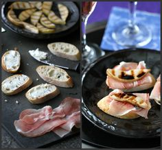 Grilled Pear, Goat Cheese & Prosciutto Crostini Recipe by CookinCanuck, via Flickr