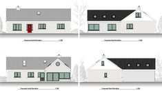 This contemporary extension to a bungalow has completely updated and modernised a family home. Old School House, House Extensions, Contemporary, Modern, Bungalow, House Plans, Irish, Home And Family, Homeschool