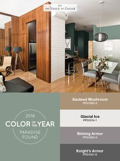 the ppg voice of color 2016 paint color of the year paradise found featured - Dining Room Paint Colors 2016