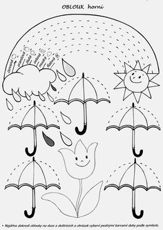 Spring rain ☔️ rainbow tracing page Tracing Worksheets, Kindergarten Worksheets, In Kindergarten, Preschool Activities, April Preschool, Preschool Writing, Preschool Crafts, Pre Writing, Writing Skills