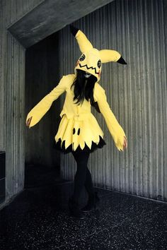 Mimikyu by Mango Sirene | Mimikyu pokemon number 778 #778 dress, outfit, casual cosplay, costume | yellow, fairy, ghost type pikachu
