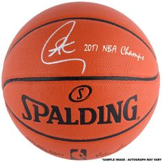 "Stephen Curry Golden State Warriors Fanatics Authentic Autographed 2017 NBA Finals Champions Indoor/Outdoor Basketball with ""17 NBA Champs"" Inscription"