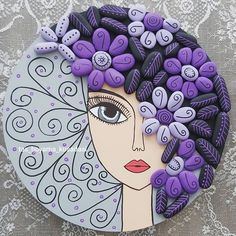 Creative Arts And Crafts, Diy And Crafts, Creative Decor, Stone Crafts, Rock Crafts, Doll Face Paint, Flower Pot Design, Art And Craft Videos, Rock And Pebbles