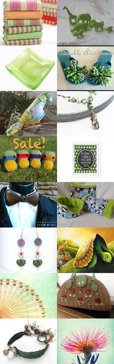 Green is in the Air by sylvia on Etsy--Pinned with TreasuryPin.com
